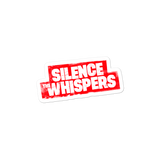 Silence The Whispers - Red Logo Sticker