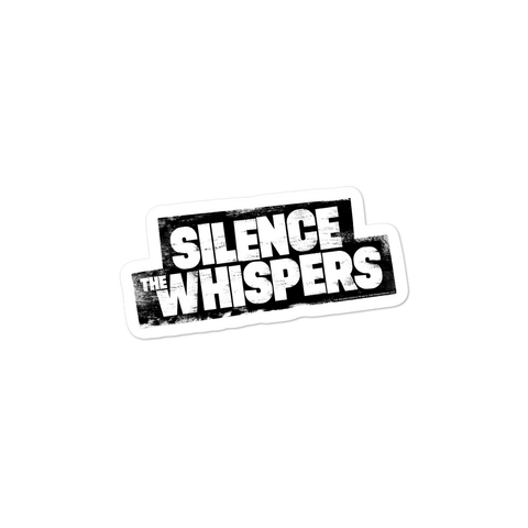 Silence The Whispers - Black Logo Sticker