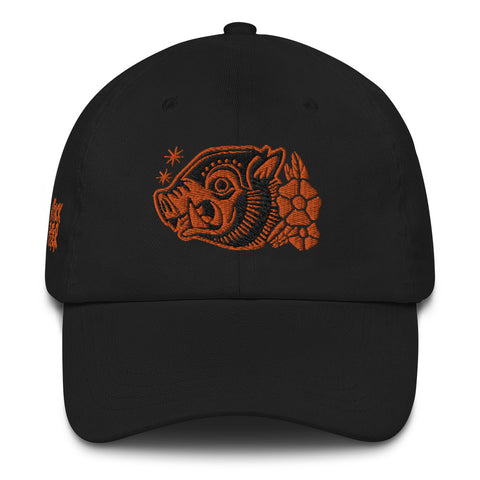 "Attack Peter ""War Hog"" Dad hat in Black/Orange"