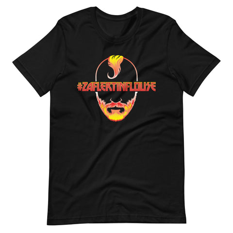 Movie Trivia Schmoedown<br>#ZAFLERTINFLOUSE Fire<br> Unisex T-Shirt