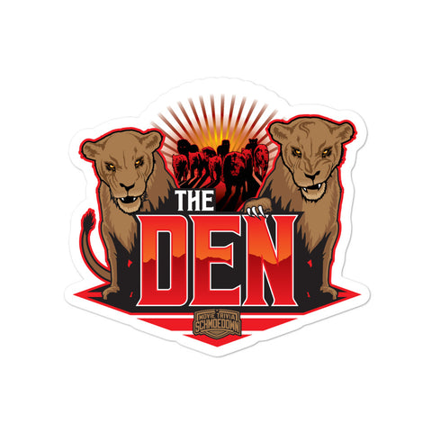 "Movie Trivia Schmoedown ""The Den"" - Sticker"