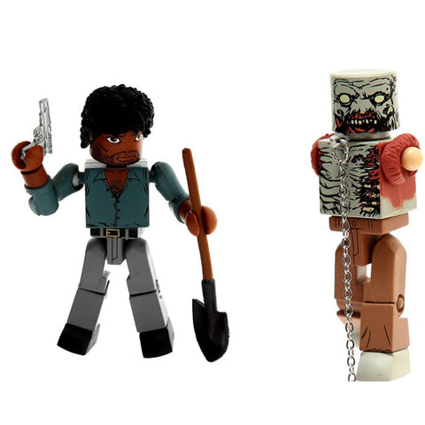 THE WALKING DEAD Minimates - Morgan & Zombie Mike
