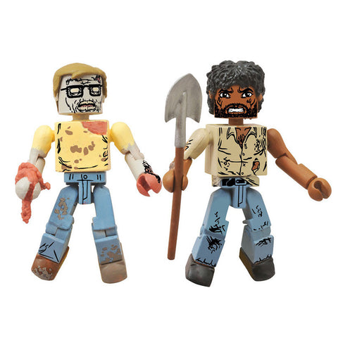 THE WALKING DEAD Minimates - Survivor Morgan & Geek Zombie