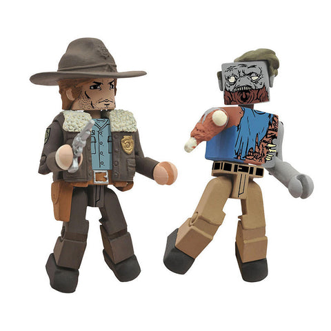 THE WALKING DEAD Minimates - Officer Rick & One-Armed Zombie