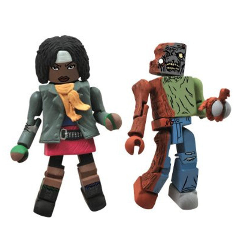 THE WALKING DEAD Minimates - Michonne & One-Eyed Zombie