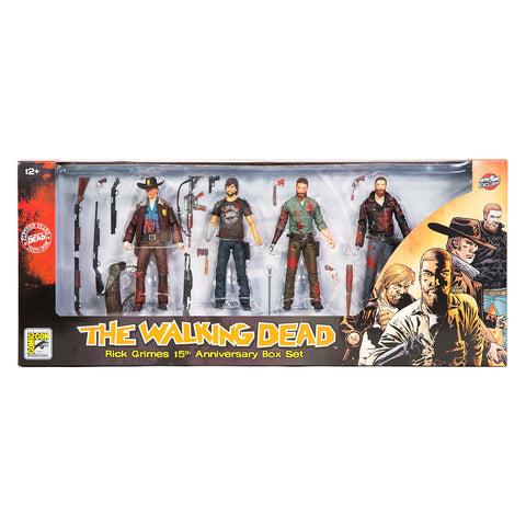 THE WALKING DEAD - Rick Grimes (Bloody) 15th Anniversary 4 Figure pack