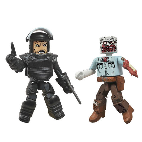 THE WALKING DEAD Minimates - Riot Gear Rick & Guard Zombie