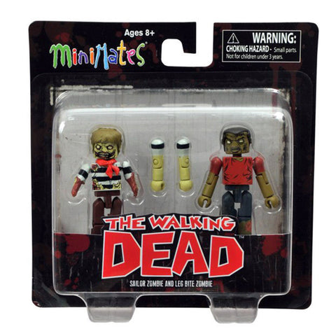 THE WALKING DEAD Minimates - Sailor Zombie & Leg Bite Zombie