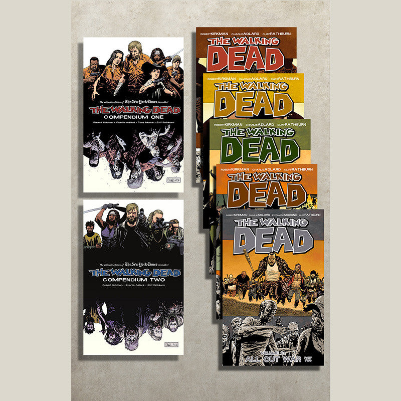THE WALKING DEAD Starter Bundle | Compendium 1-2 & Volumes 17-21 | Issues #1-126