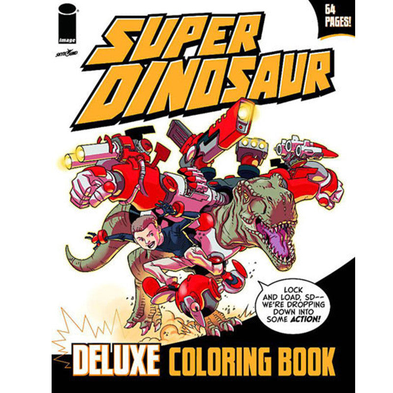 SUPER DINOSAUR COLORING BOOK