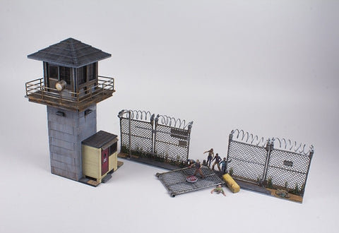 AMC's THE WALKING DEAD Construction Set - Prison Tower & Gate Building Set