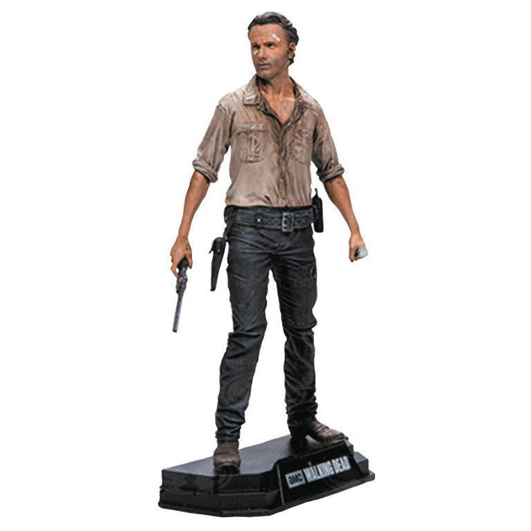 "AMC's THE WALKING DEAD - Color Tops - Red Wave - Rick Grimes - 7"" Action Figure #1"