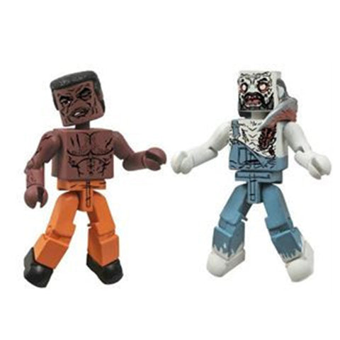 THE WALKING DEAD Minimates - Tyreese & Farmer Zombie