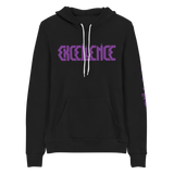 "Excellence ""Logo with Excellence is real Arm Print"" Unisex Hoodie"