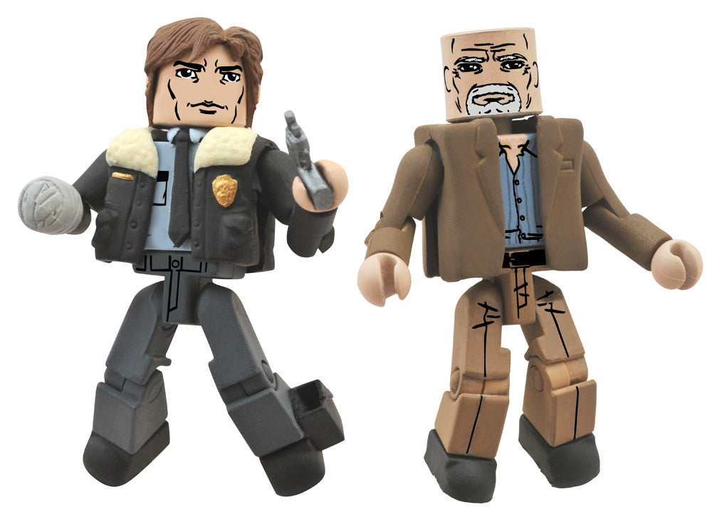 THE WALKING DEAD Minimates Series 6 - Constable Rick Grimes and Douglas Monroe