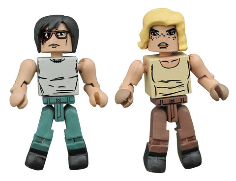 THE WALKING DEAD Minimates Series 8 - Hilltop Carl Grimes and Hilltop Sophia