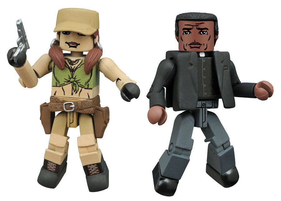 THE WALKING DEAD Minimates Series 8 - Rosita and Father Gabriel