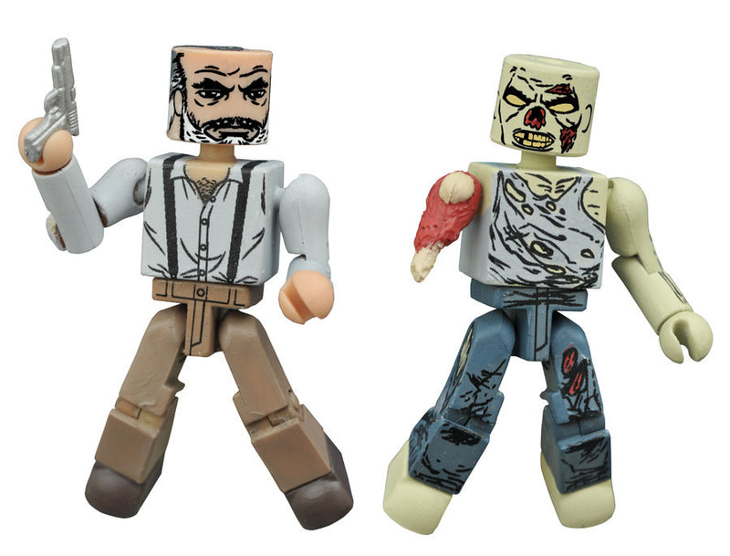 THE WALKING DEAD Minimates Series 8 - Gregory and Forest Zombie