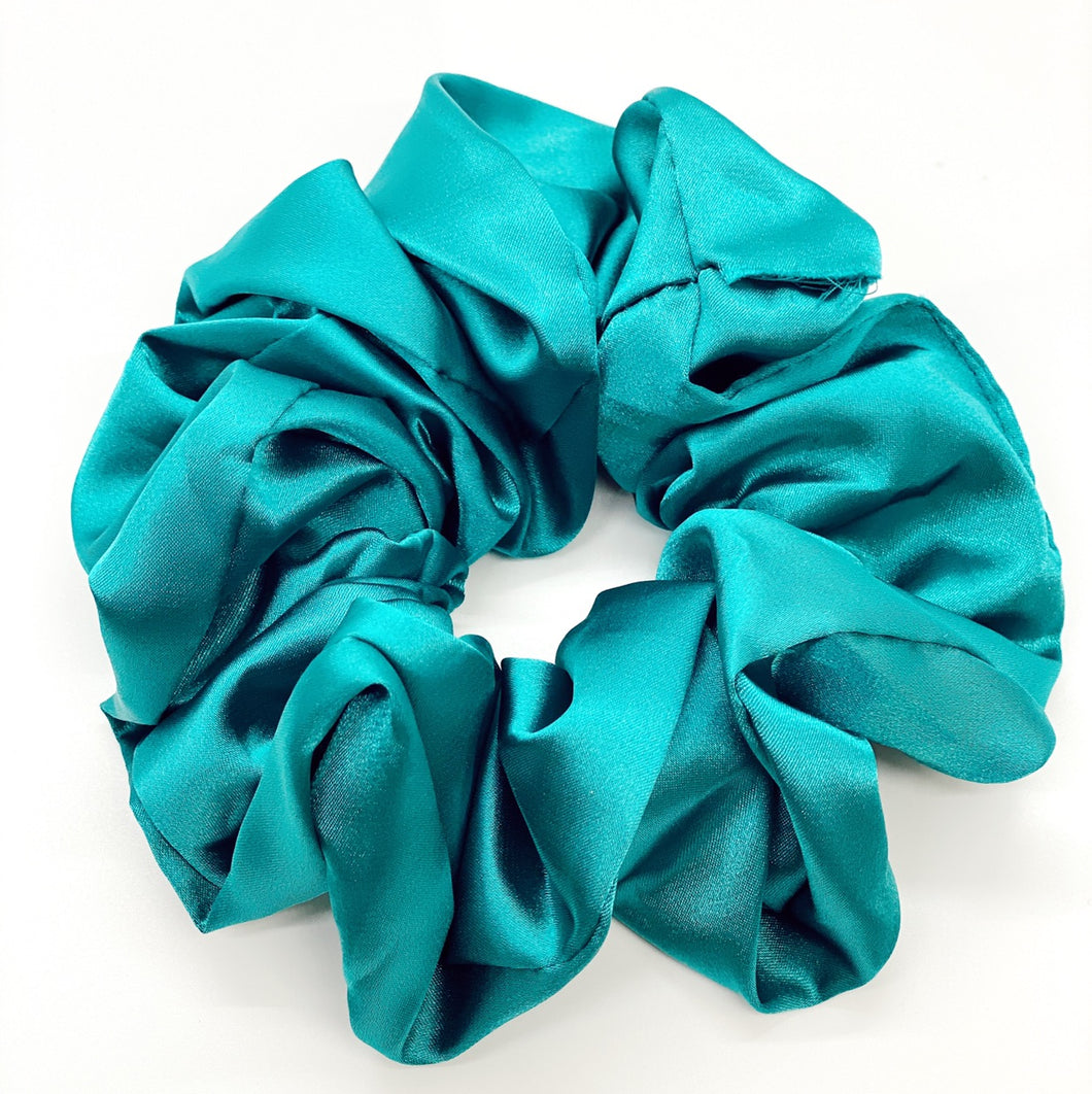 Turquoise Oversized Silk Scrunchie