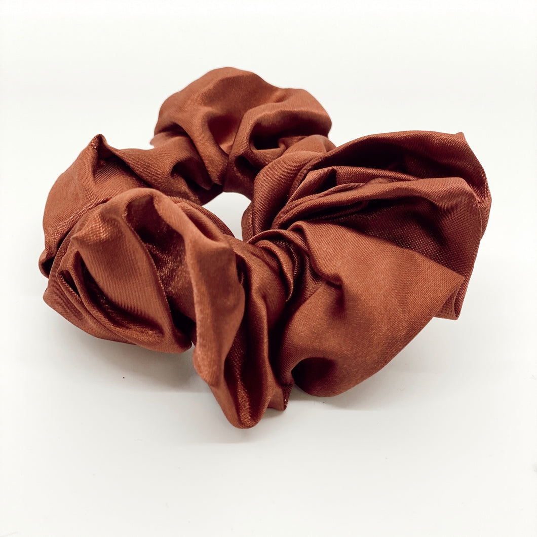 Rust Silk Scrunchie