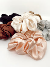 Load image into Gallery viewer, Cream Silk Scrunchie