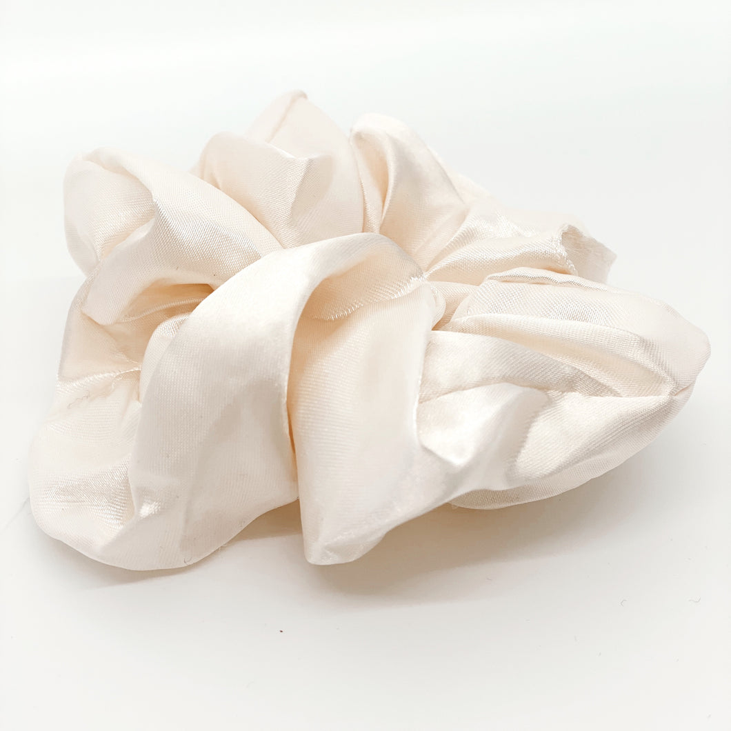 Cream Silk Scrunchie