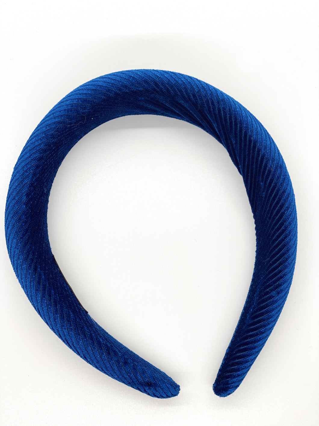 Ribbed Blue Velvet Headband