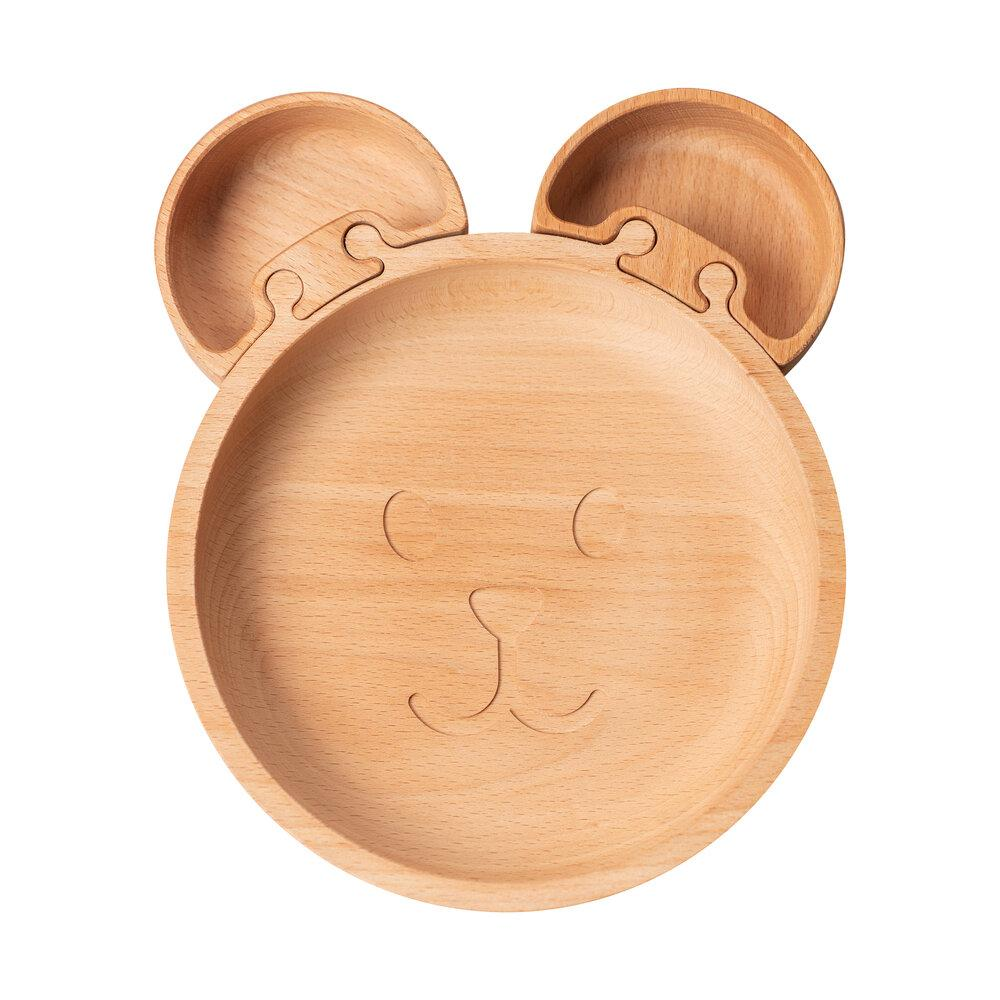 The Bear - Wooden Jigsaw Plate For Children