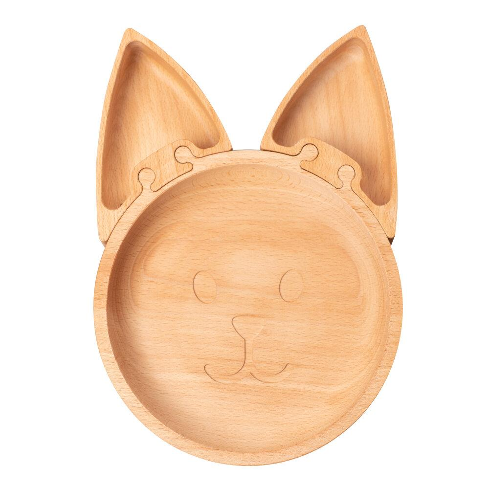 The Fox - Wooden Jigsaw Plate For Children