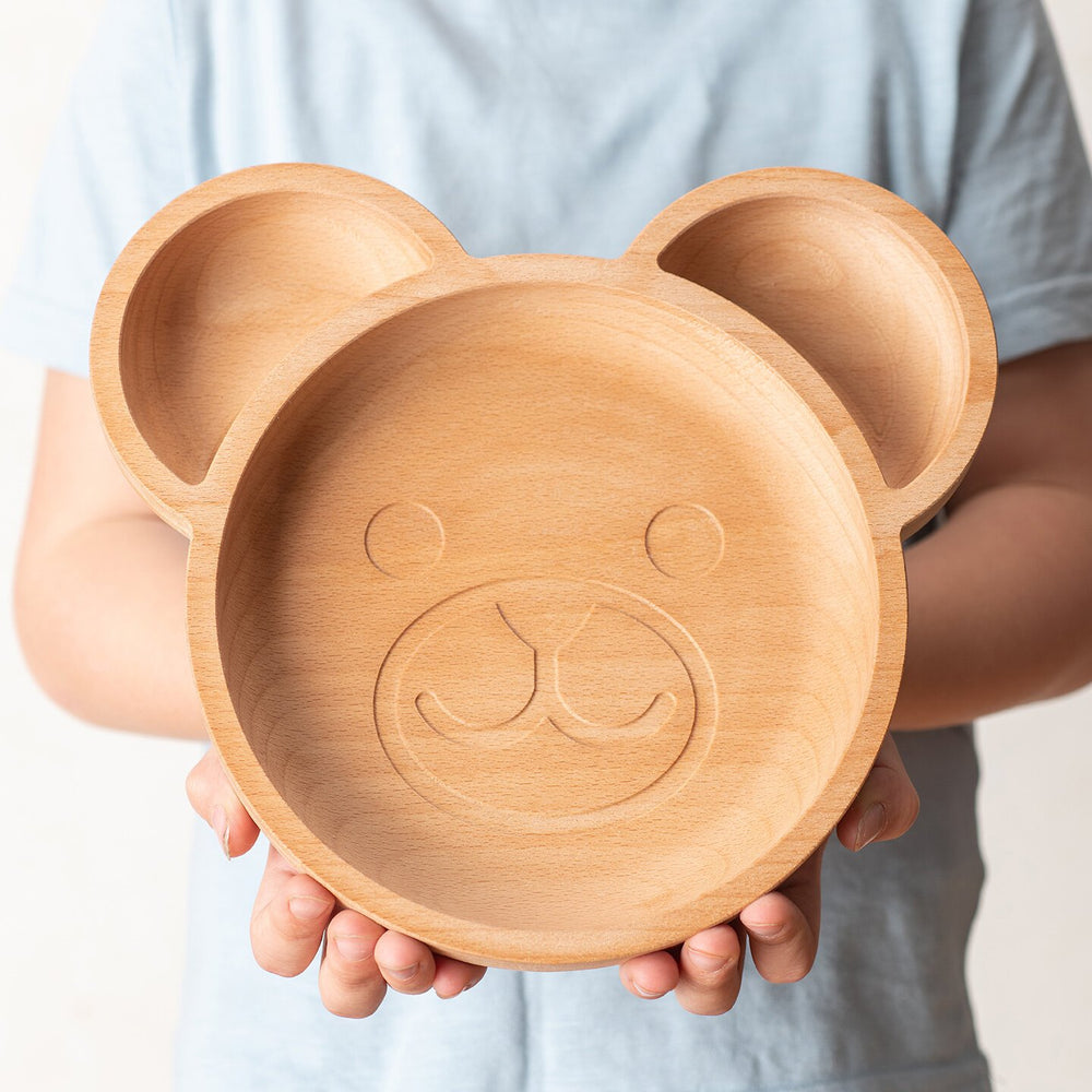 Load image into Gallery viewer, The Wooden Bear Plate For Children