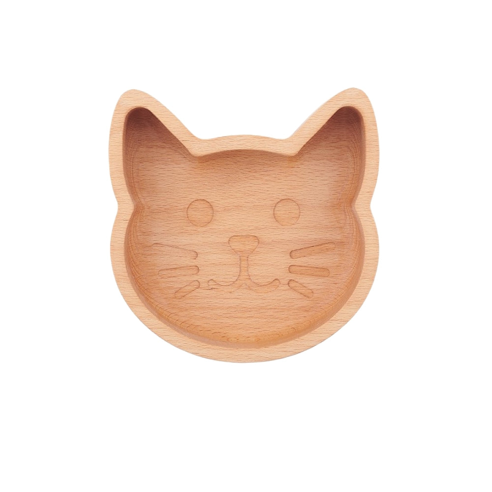 Wooden Cat Bowl - Naturally Antibacterial For Cats