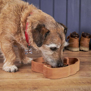 Load image into Gallery viewer, Wooden Dog Bowl - Naturally Antibacterial For Dogs