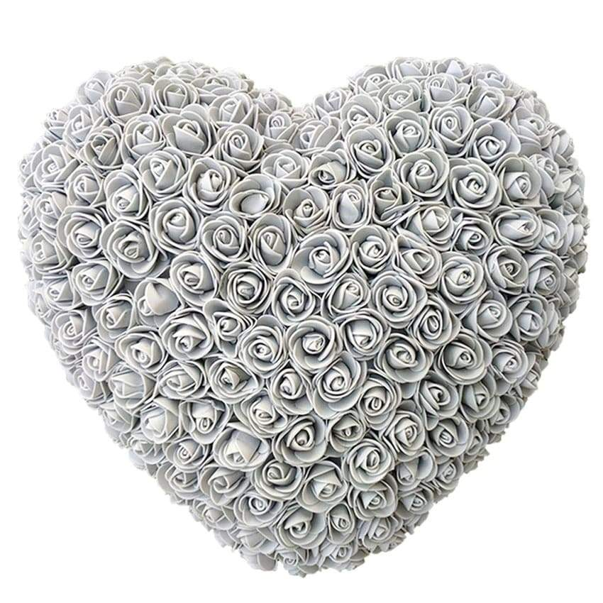 Gray Rose Heart