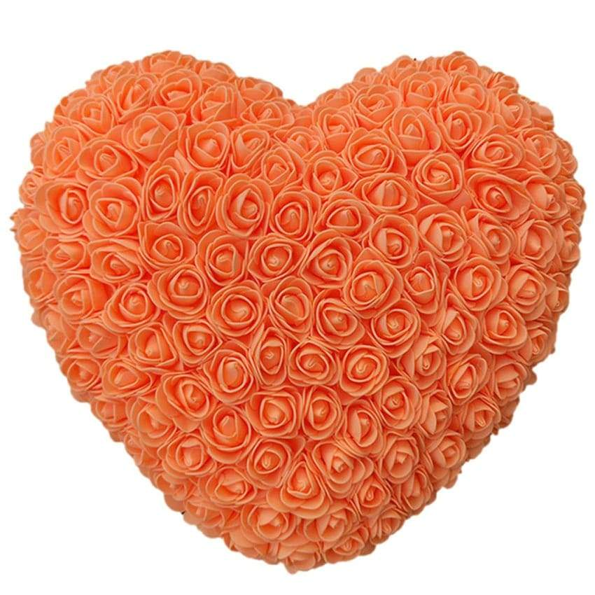Orange Rose Heart