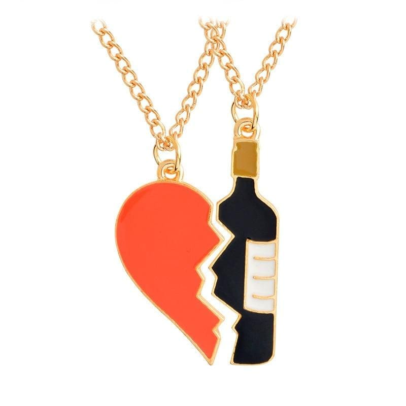 Alcohol Couple Necklaces