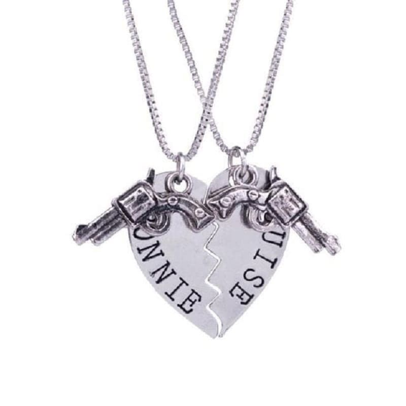 Bonnie & Clyde Couple Necklaces