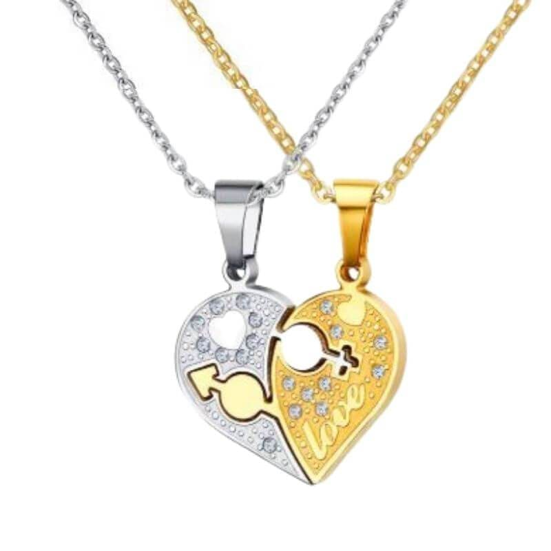 Couple Necklaces <br/> Broken Heart