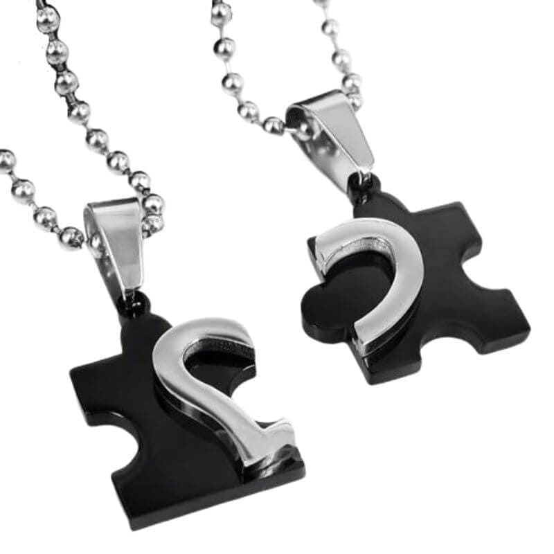 Puzzle Couple Necklaces