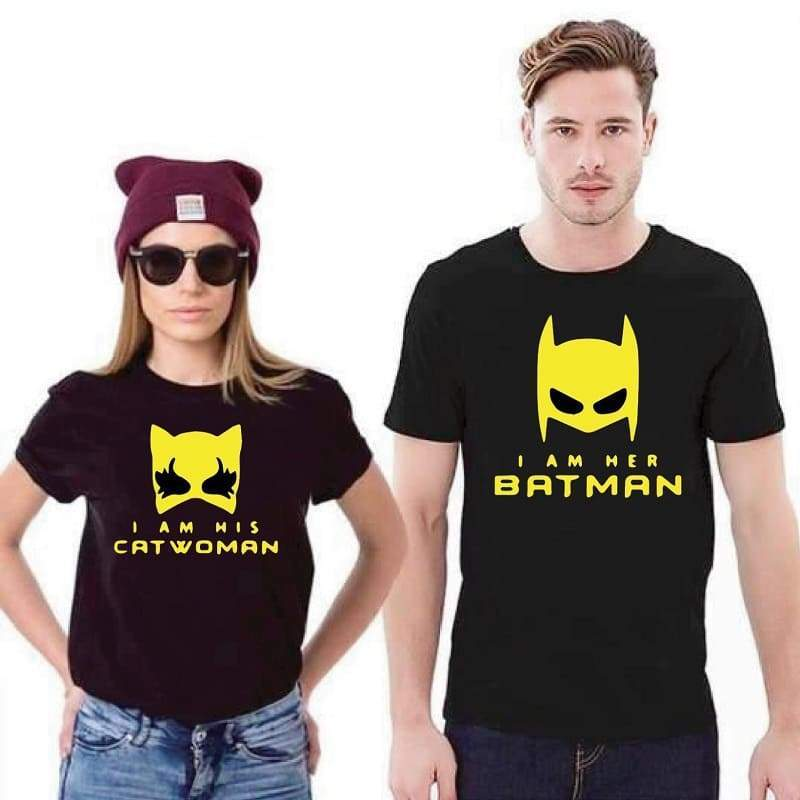 Couple T Shirts <br/> Batman & Catwoman