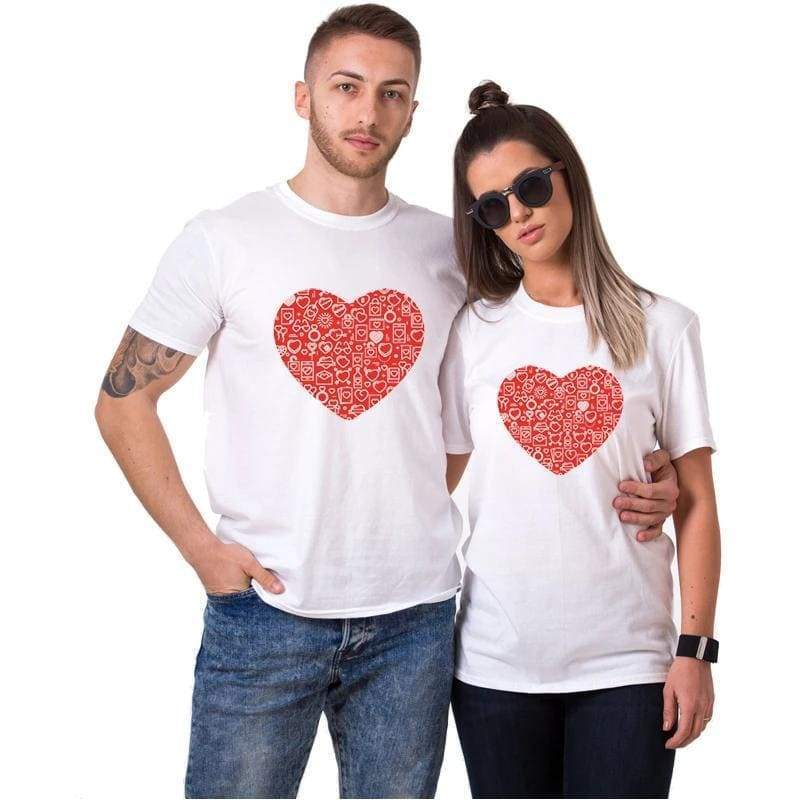 Couple T Shirts <br/> Happy Heart