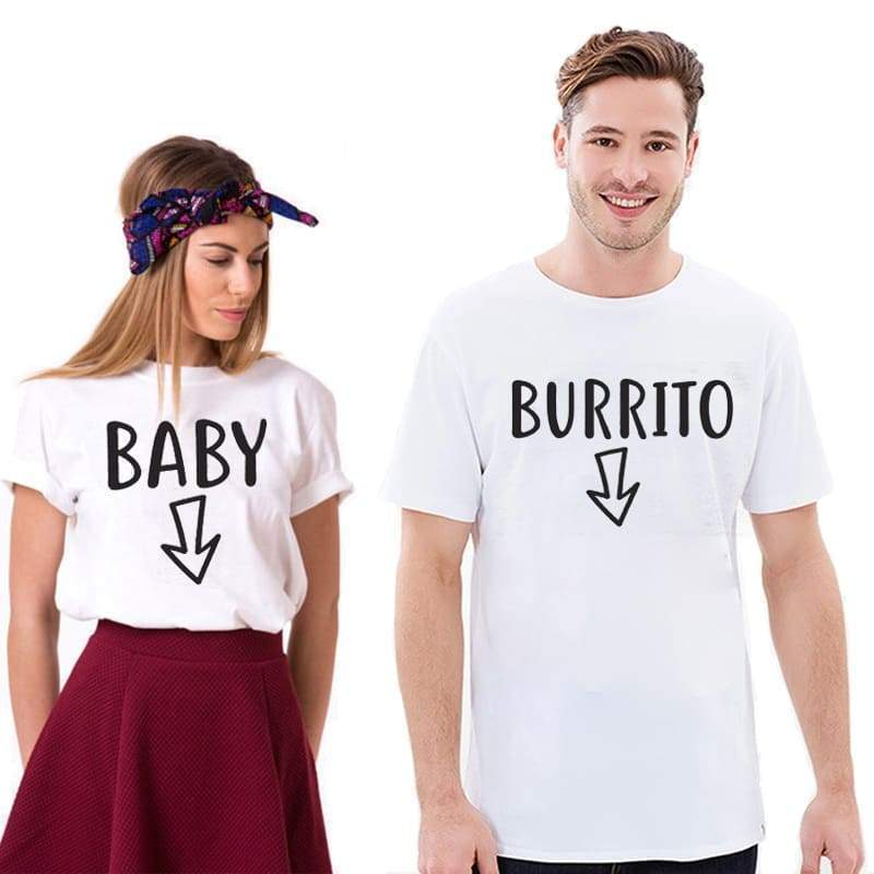 Pregnancy Announcement Couple T-shirts