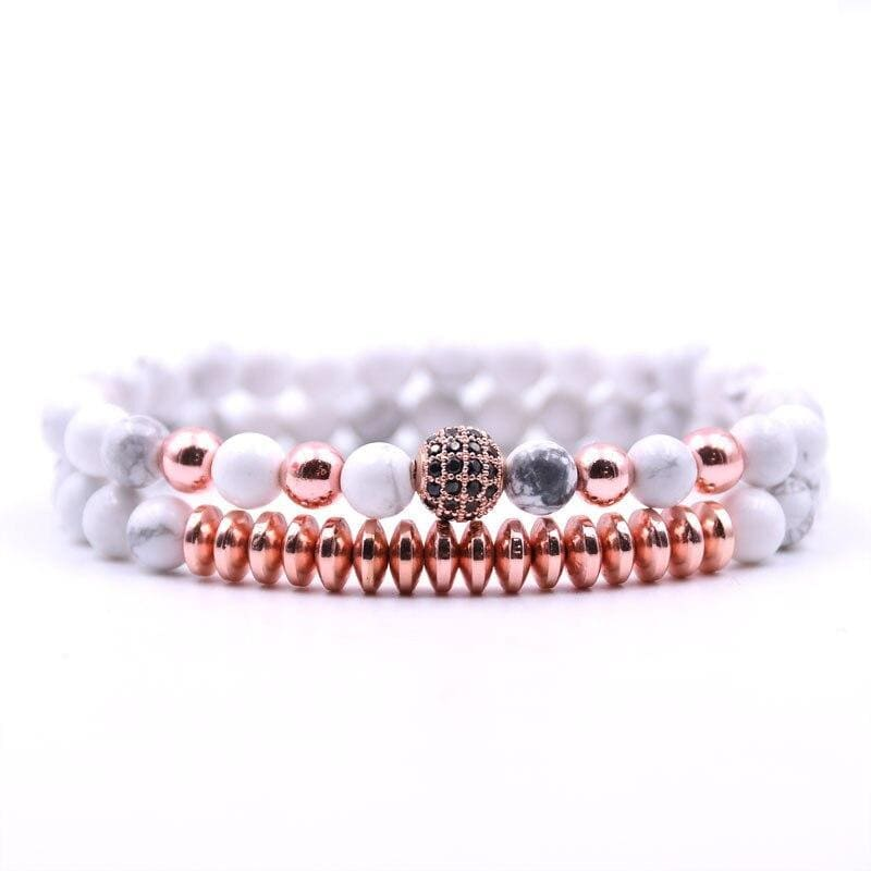 Snow Pearl Couple Bracelets