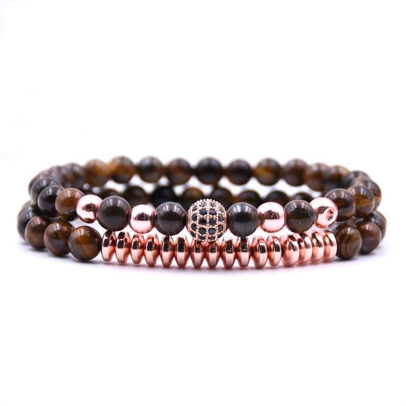 Tiger Beads Couple Bracelets