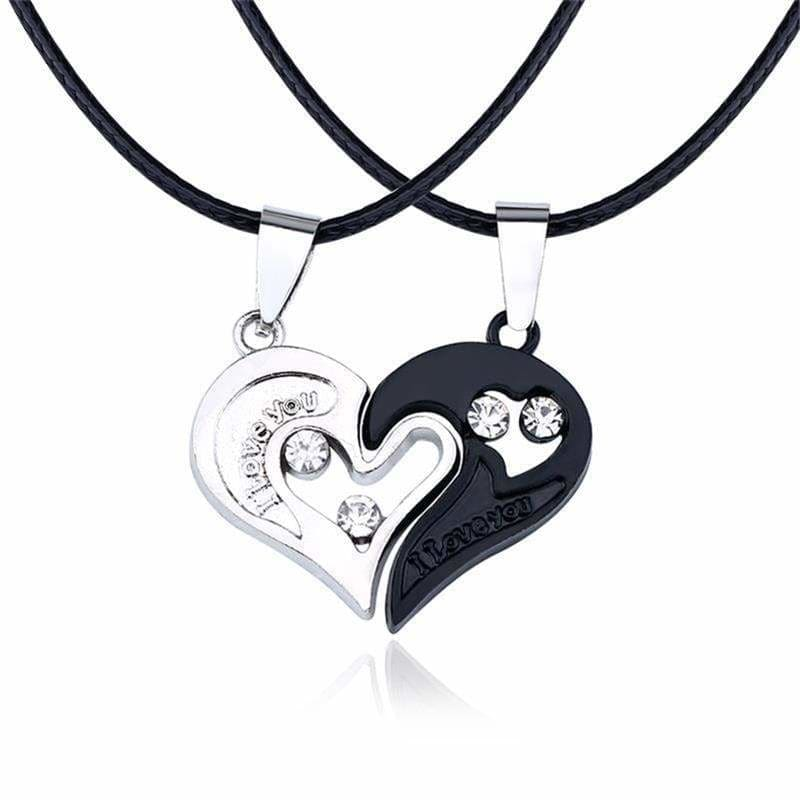 Couple Necklaces <br/> Assembled Heart