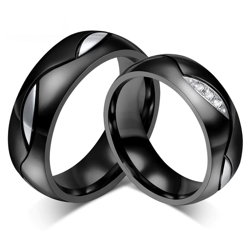Couple Rings <br/> Silver Leaves