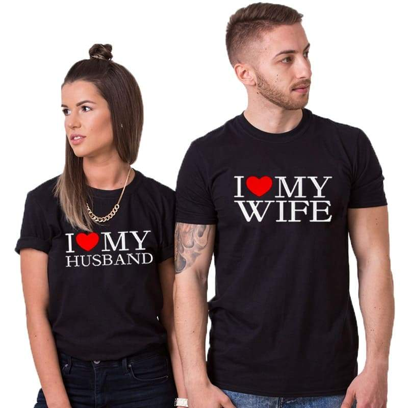 Couple T Shirts <br/> I love My Wife/Husband