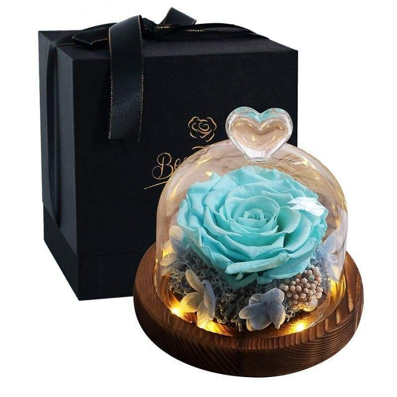 Eternal Rose Under Bell Blue - Couple-Gift-Store