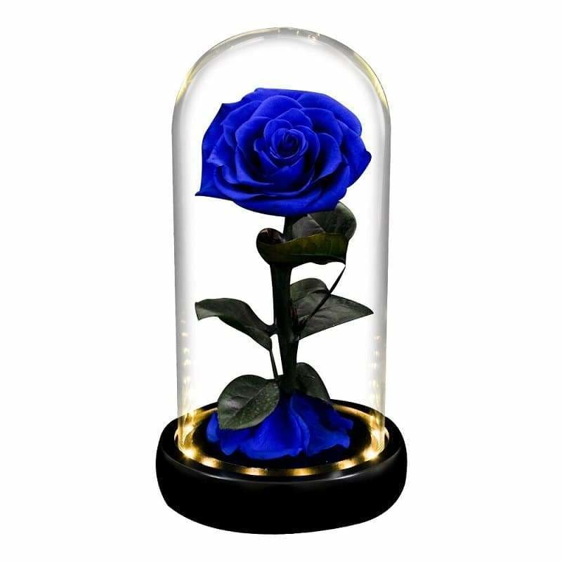 Eternal Rose Under Bell Blue Led XL - Couple-Gift-Store
