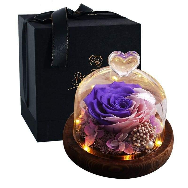 Eternal Rose Under Bell In Glass - Couple-Gift-Store