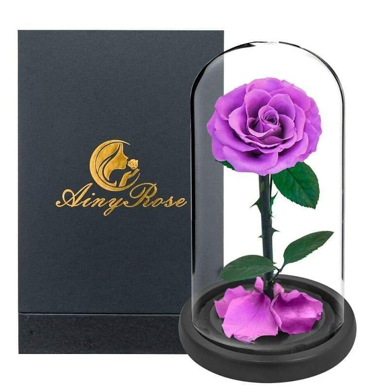 Eternal Rose Under Bell <br/> Violet XL <br/> (With box)